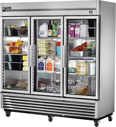 FAS-Refrigeration-Three-Section-Glass-Door-Reach-In-Refrigerator